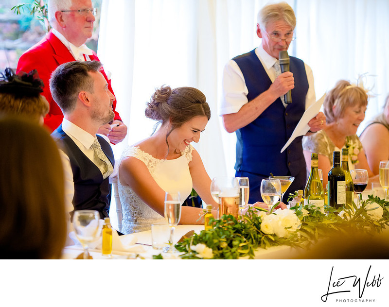 Speeches at Oldcastle Wedding Venue Colwall