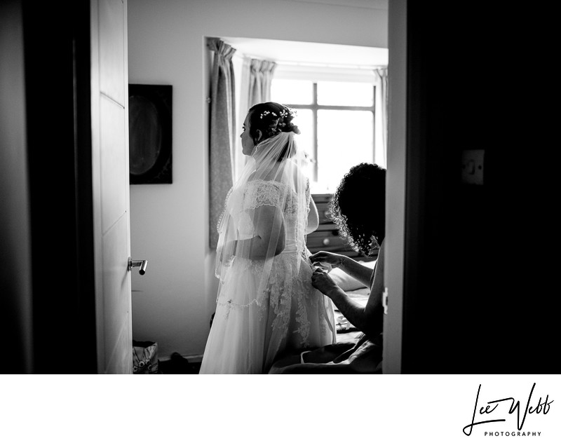 Documentary Wedding Photography Bride Dress
