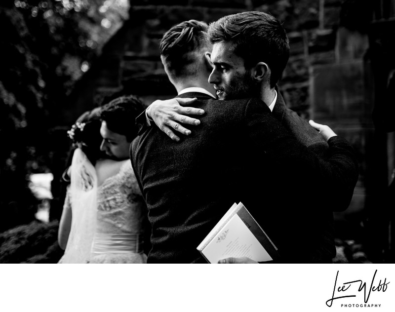Black and White Wedding Photography Worcestershire