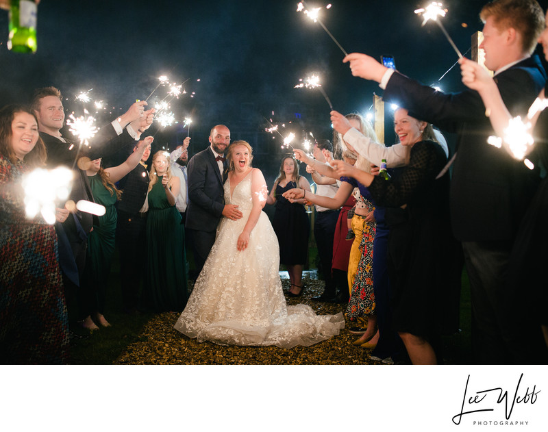 Bredenbury Court Wedding Sparklers