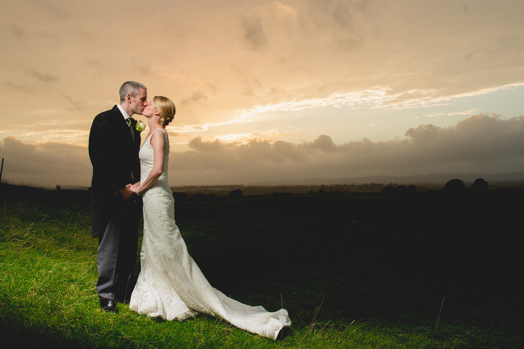 Deer Park Hall Sunset Wedding
