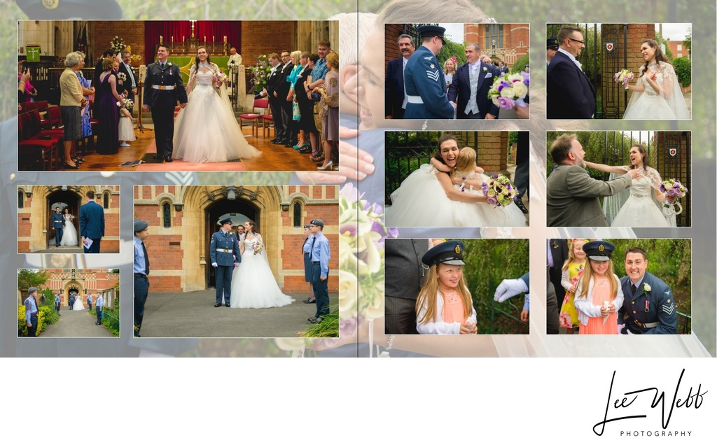 Worcestershire Wedding Photography Album Pages 13 & 14
