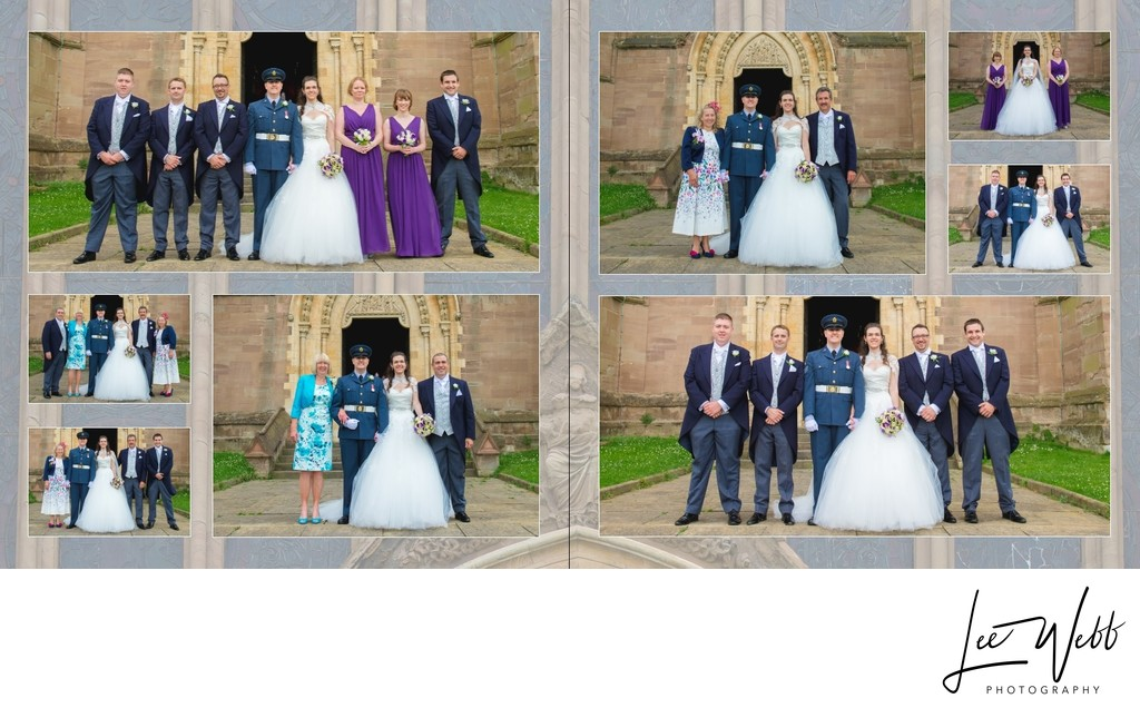 Worcestershire Wedding Photography Album Pages 19 & 20