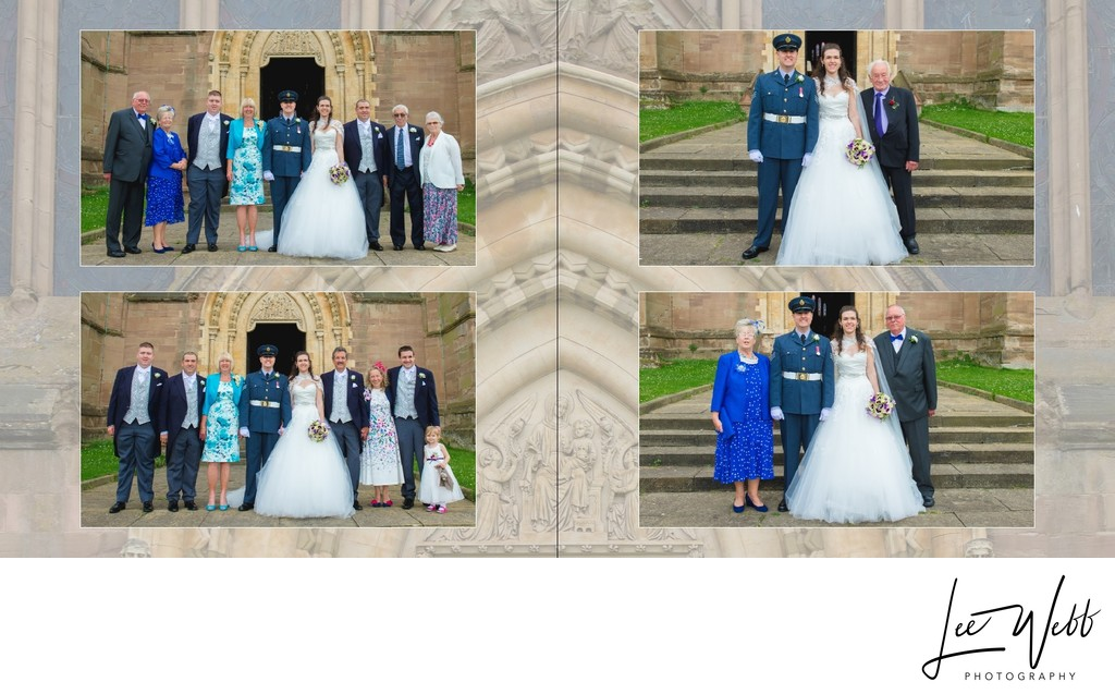Worcestershire Wedding Photography Album Pages 21 & 22