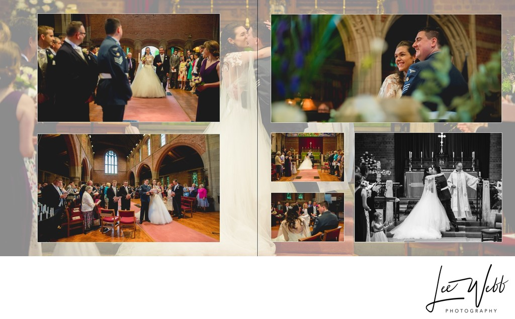 Worcestershire Wedding Photography Album Pages 9 & 10