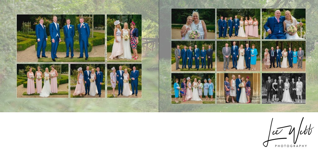 Manor by the Lake Wedding Album Pages 20 & 21