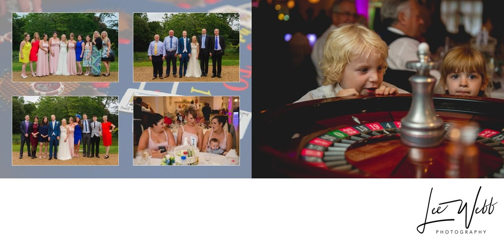 Manor by the Lake Wedding Album Pages 26 & 27