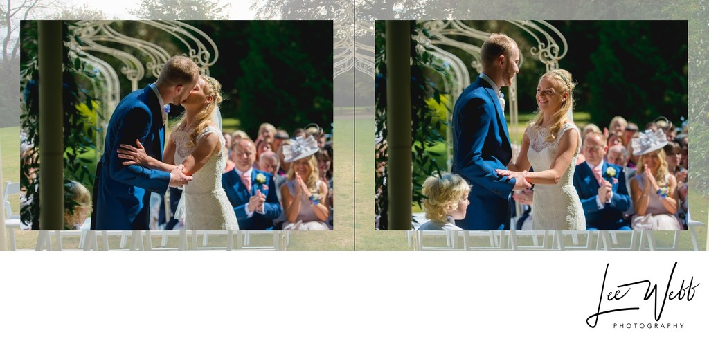 Manor by the Lake Wedding Album Pages 14 & 15