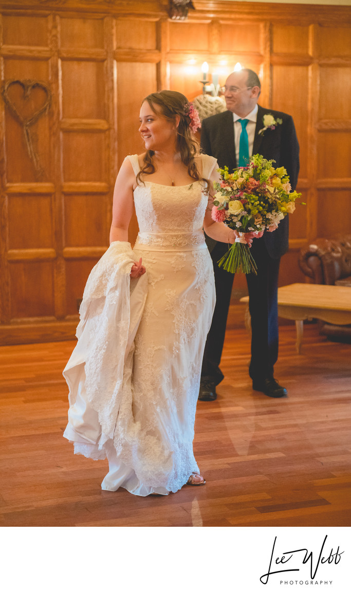 Deer Park Hall Bride With Flowers