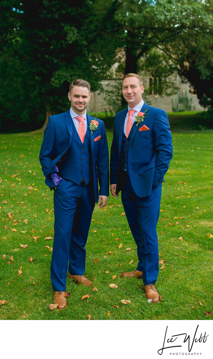 Groom and Best Man Birtsmorton Court