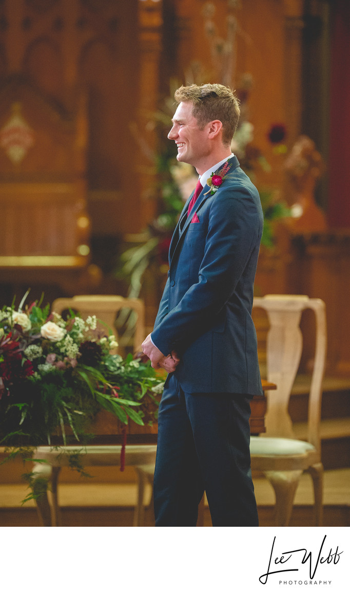 Groom Callow Great Hall Wedding Stanbrook Abbey