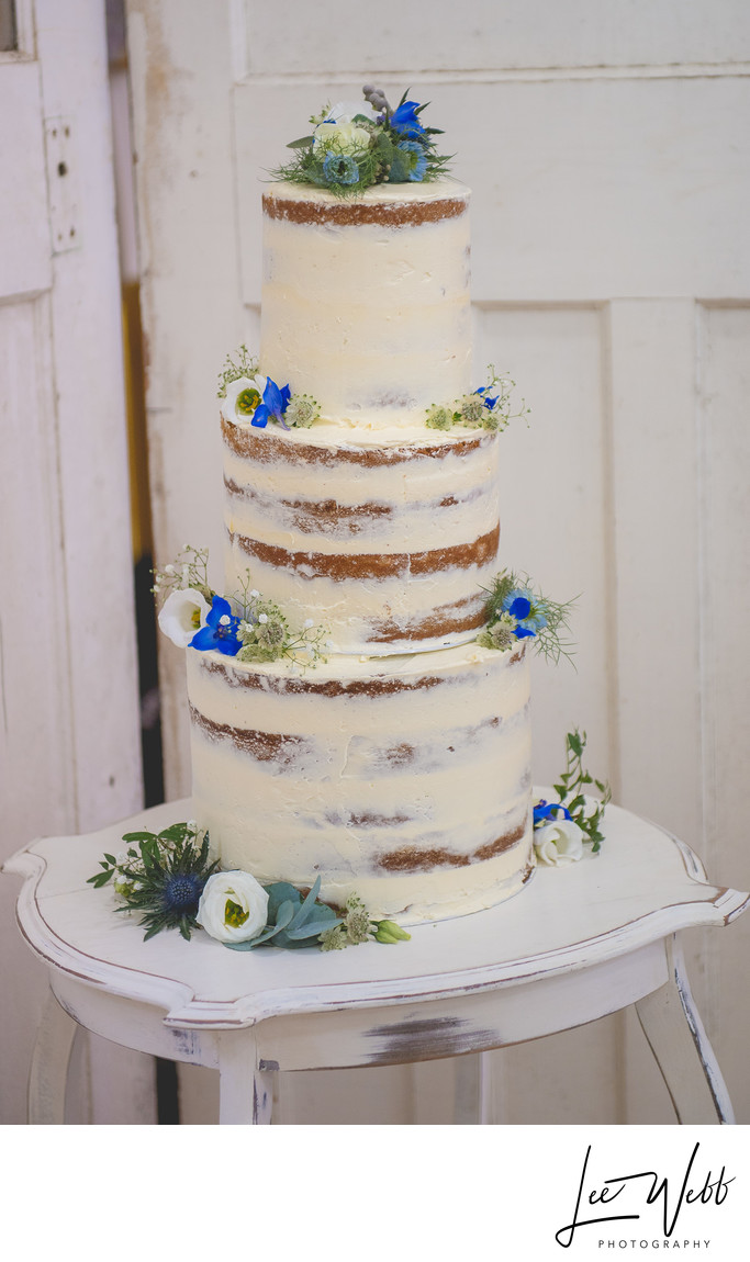 Semi Naked Wedding Cake Kidderminster
