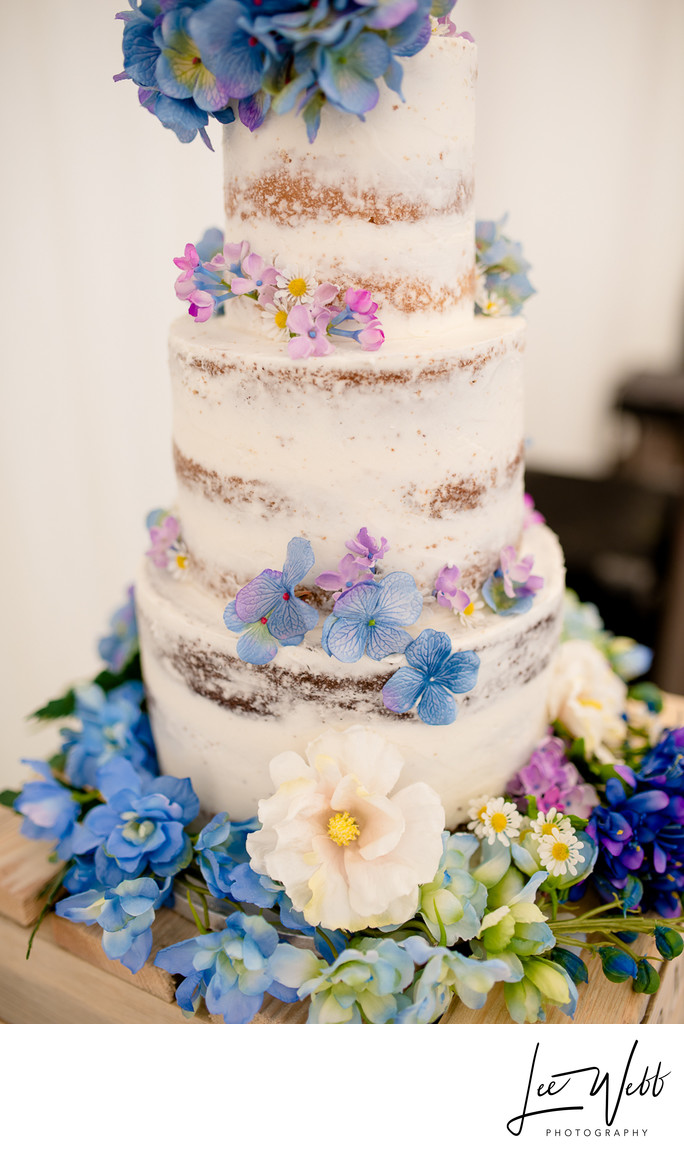 Semi Nude Wedding Cake Flowers
