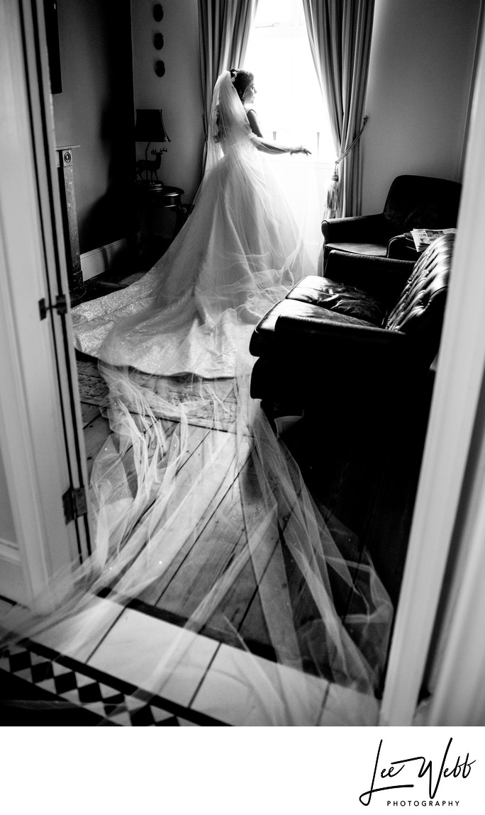 Stanbrook Abbey Black and White Wedding Photography