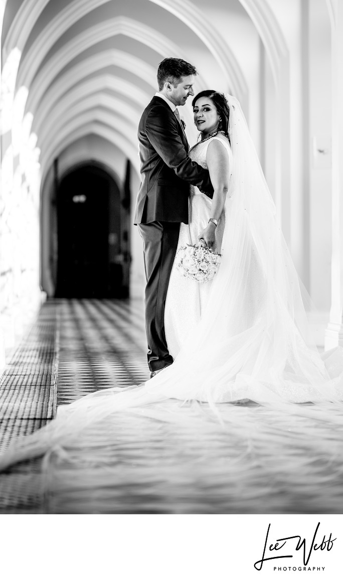 Stanbrook Abbey Cloisters Wedding Photographs