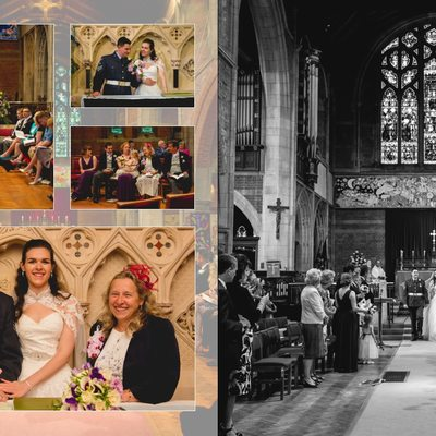 Worcestershire Wedding Photography Album Pages 11 & 12