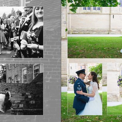 Worcestershire Wedding Photography Album Pages 17 & 18