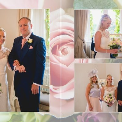 Manor by the Lake Wedding Album Pages 8 & 9​