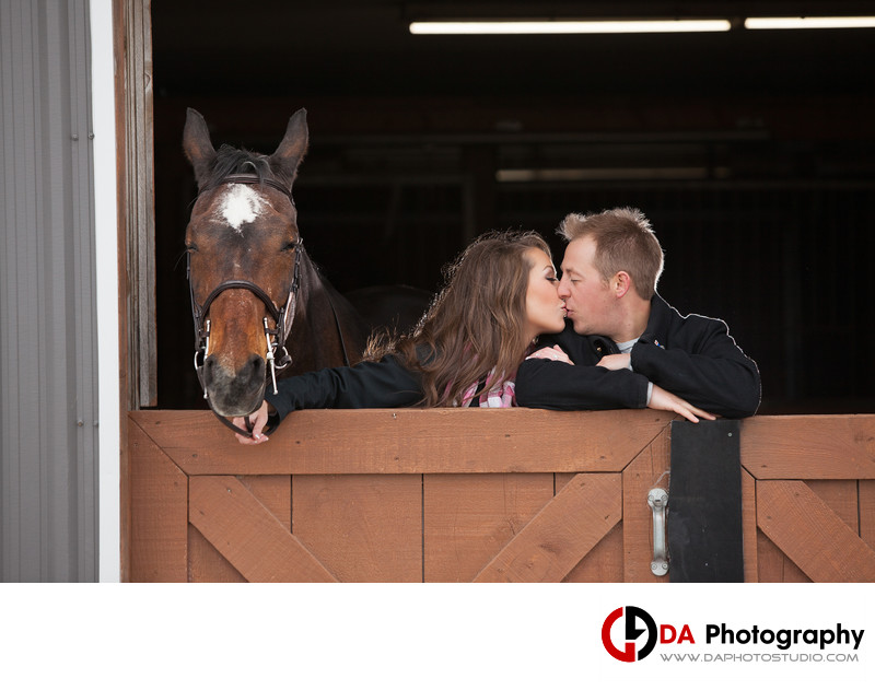 Parish Ridge Stables Engagement Photographer