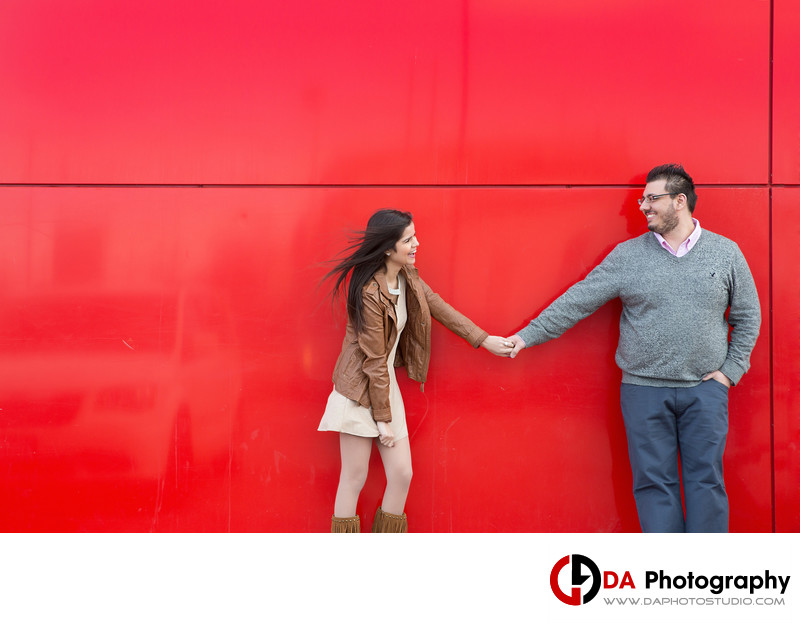 Fun Engagement Photos in Milton