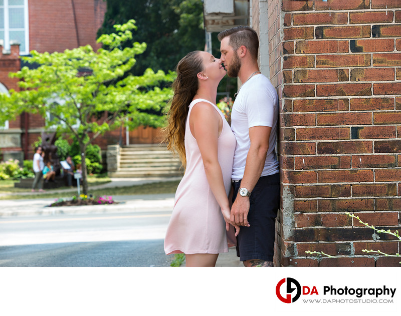 Engagement Session in Milton Downtown