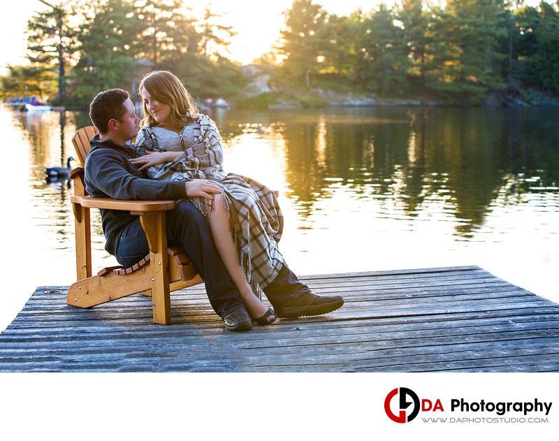 Engagement at Sunset in Muskoka