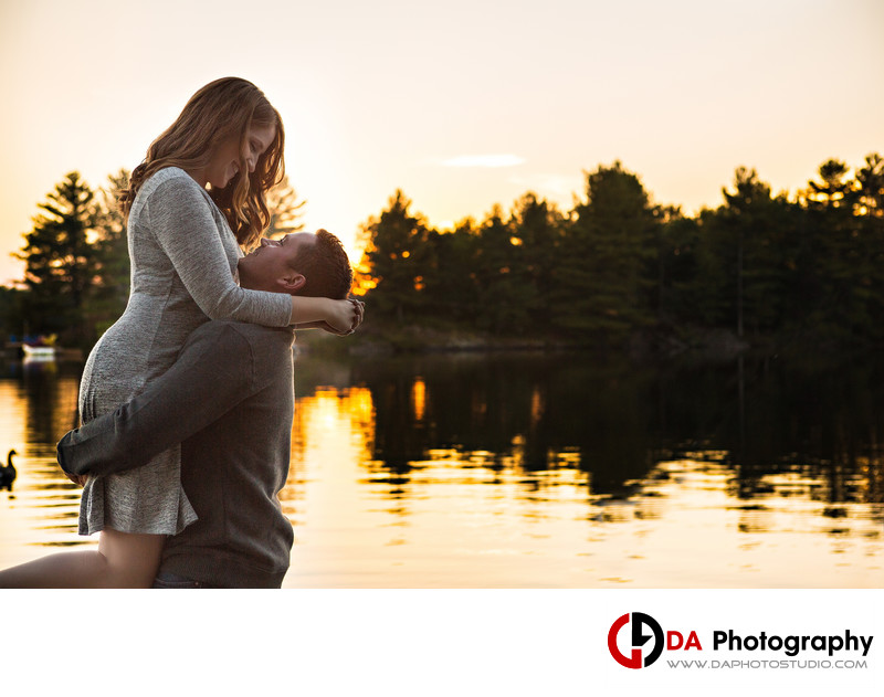 Sunset Engagement Photos in Muskoka