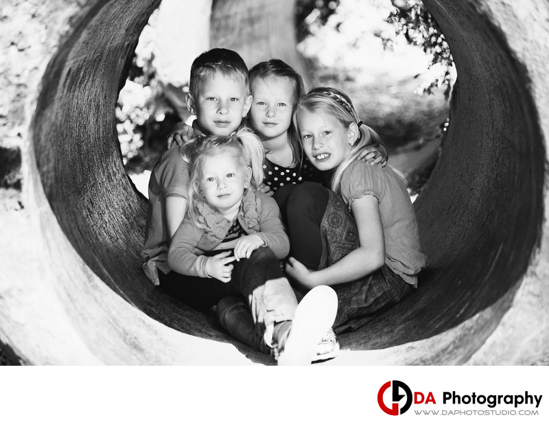 Siblings Children Portraits at Royal Botanical Garden