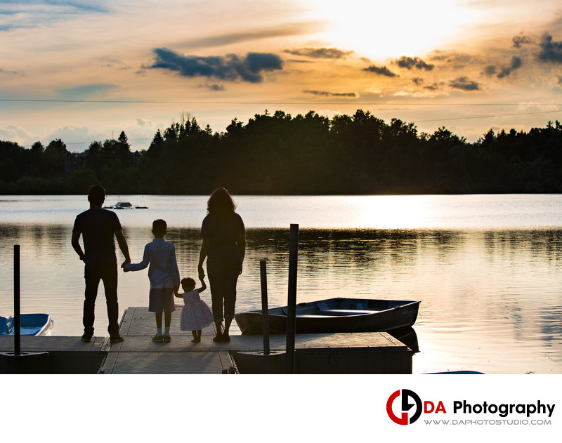 Family Photos of Sunset at Heart Lake Conservation Area