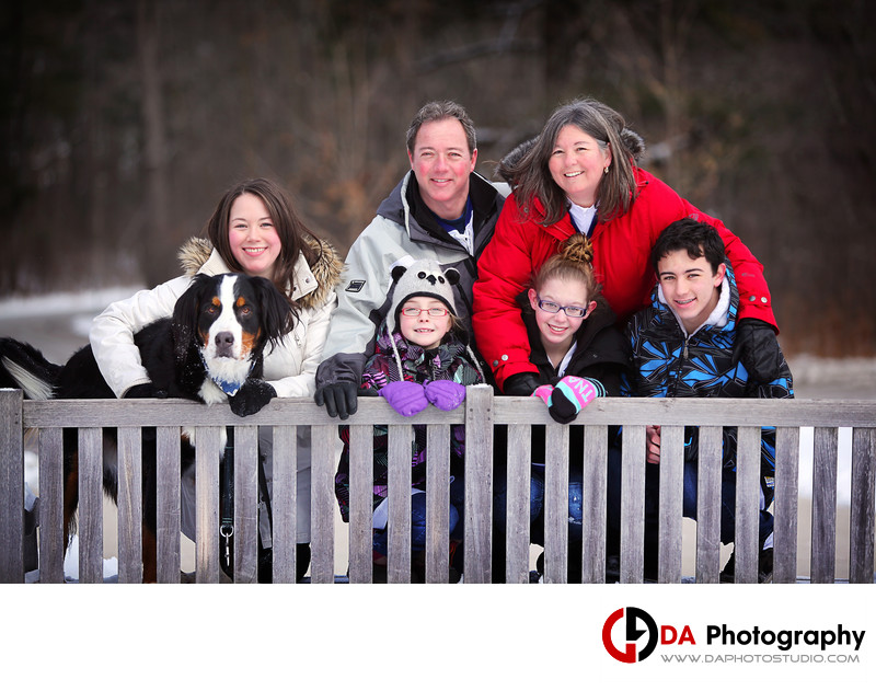 Winter family Portrait at The Riverwood Conservancy