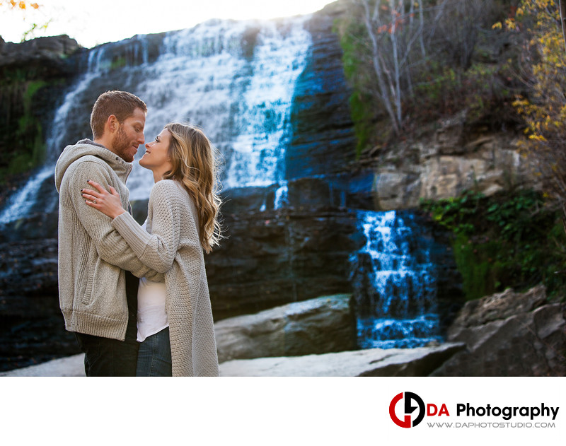 Engagement Photographer for Albion Falls