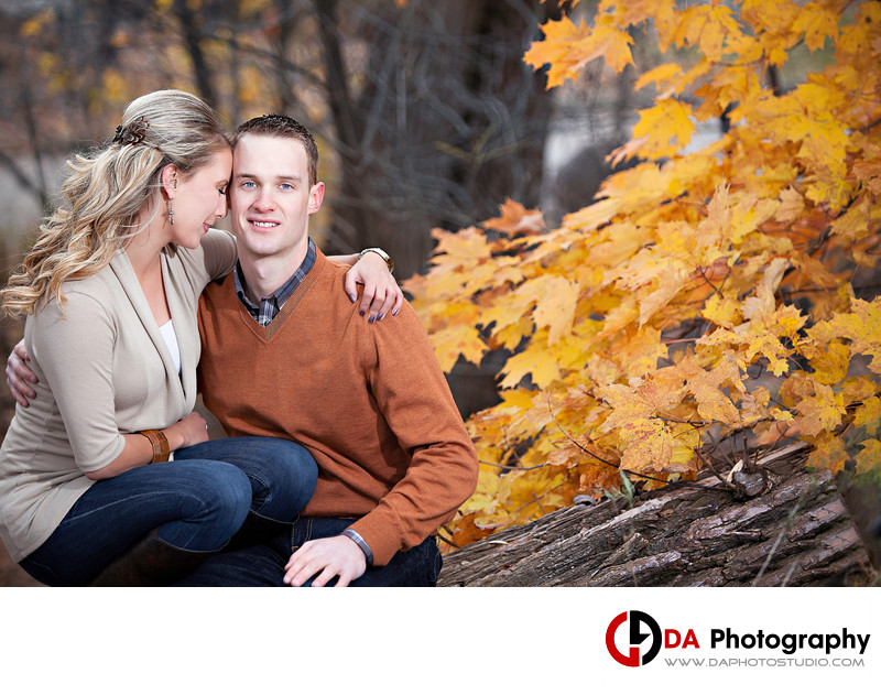 Fall Engagement at Mill Pond
