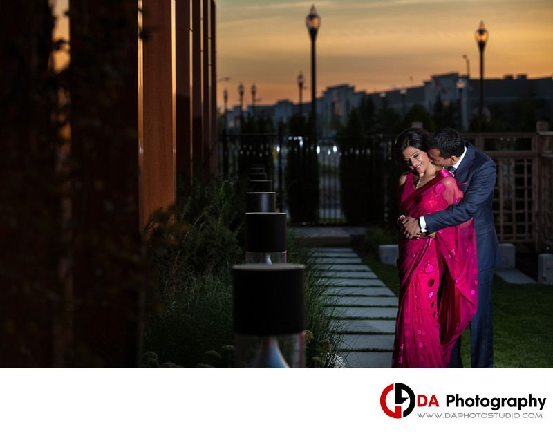 Sunset Sangeet Engagement Session at Element Vaughan