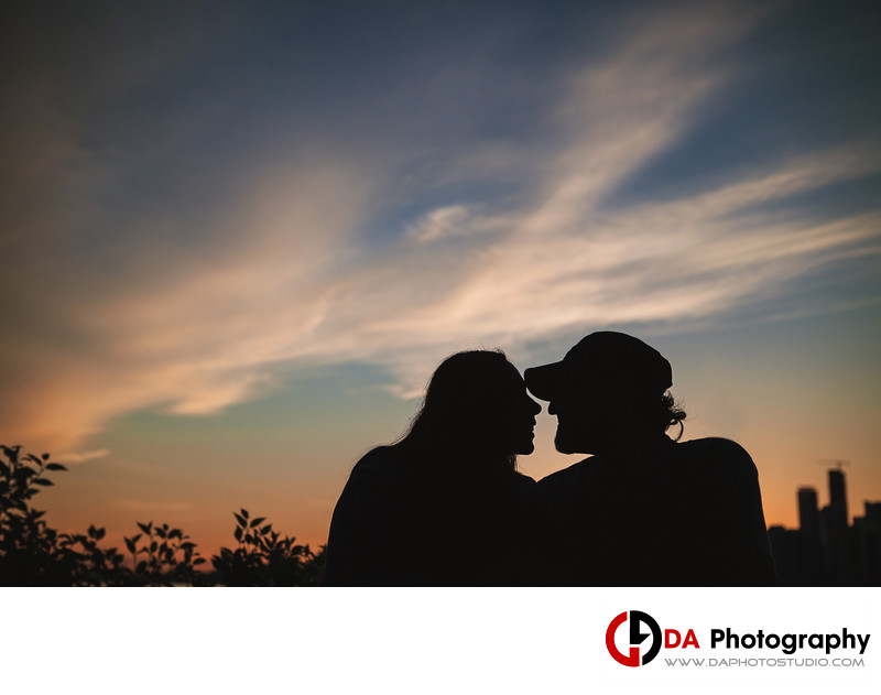 Sunset Engagement Photos at Toronto Island
