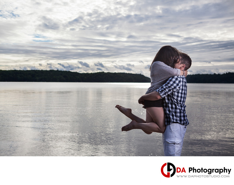 Beach Engagement Photographers in Muskoka