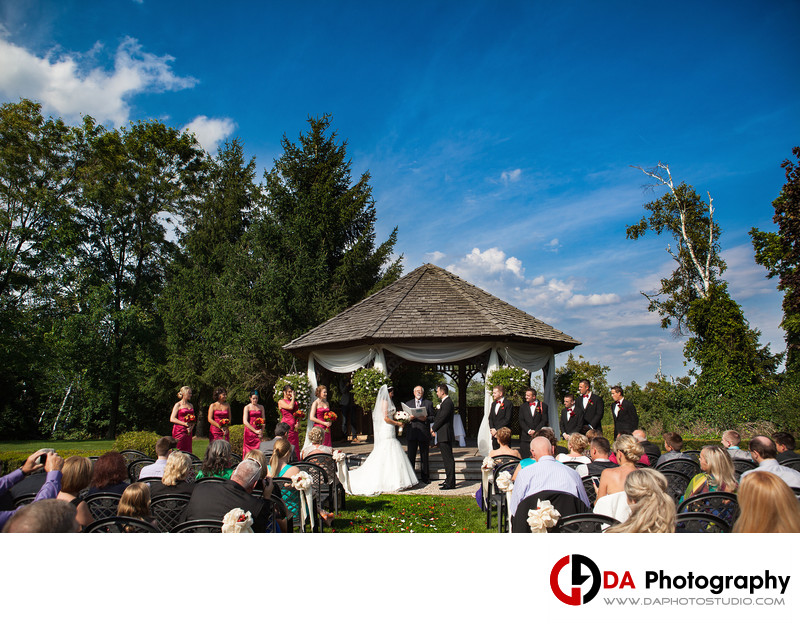 Wedding Ceremony at Terrace on The Green in Brampton