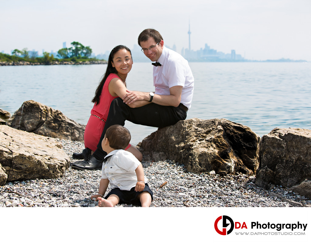 Beach Family Portrait at Humber Bay Park in Toronto