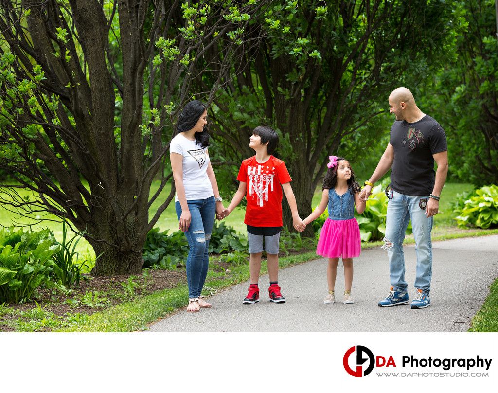 Family Walk and Portrait at Chinguacousy Park in Brampton