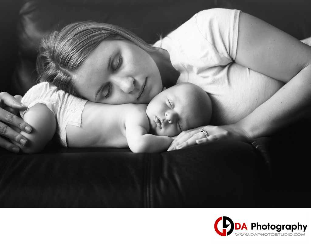 Mommy and Newborn Baby Photos in Sutton