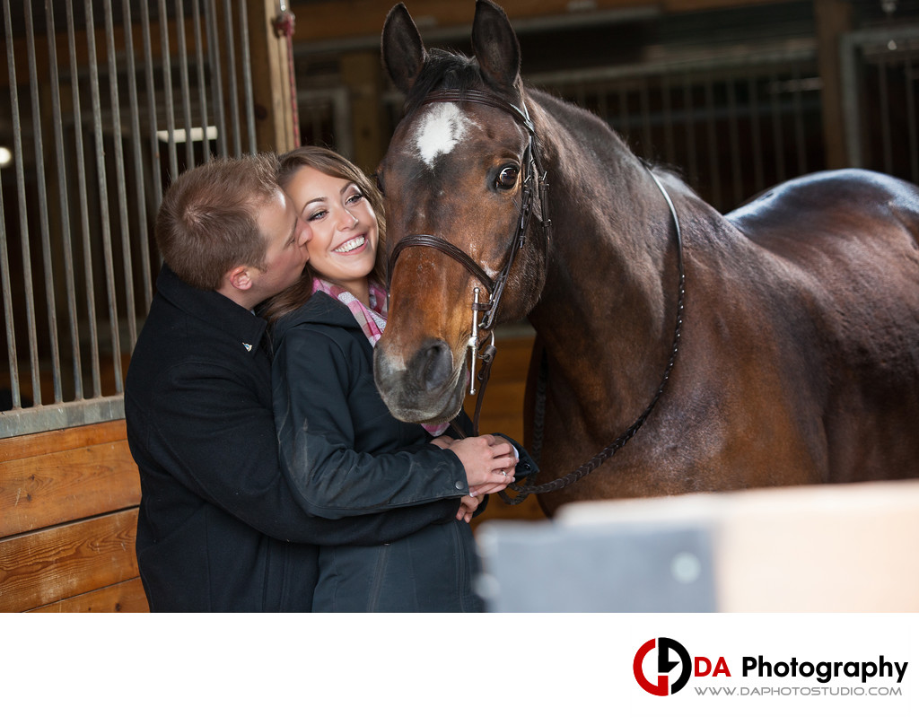 Top Engagement Photographers at Parish Ridge Stables