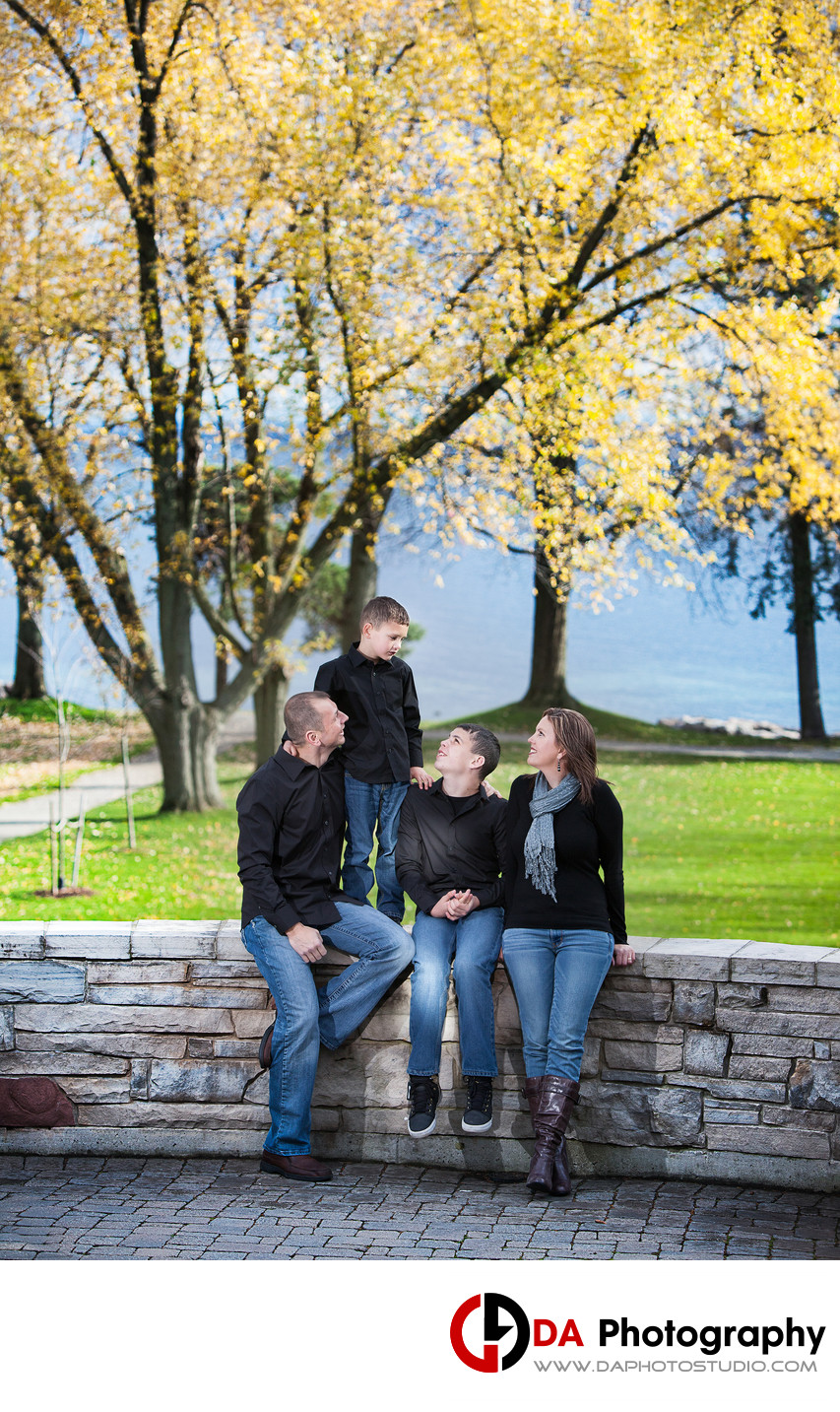 Paletta Mansion Family Photographers in Fall