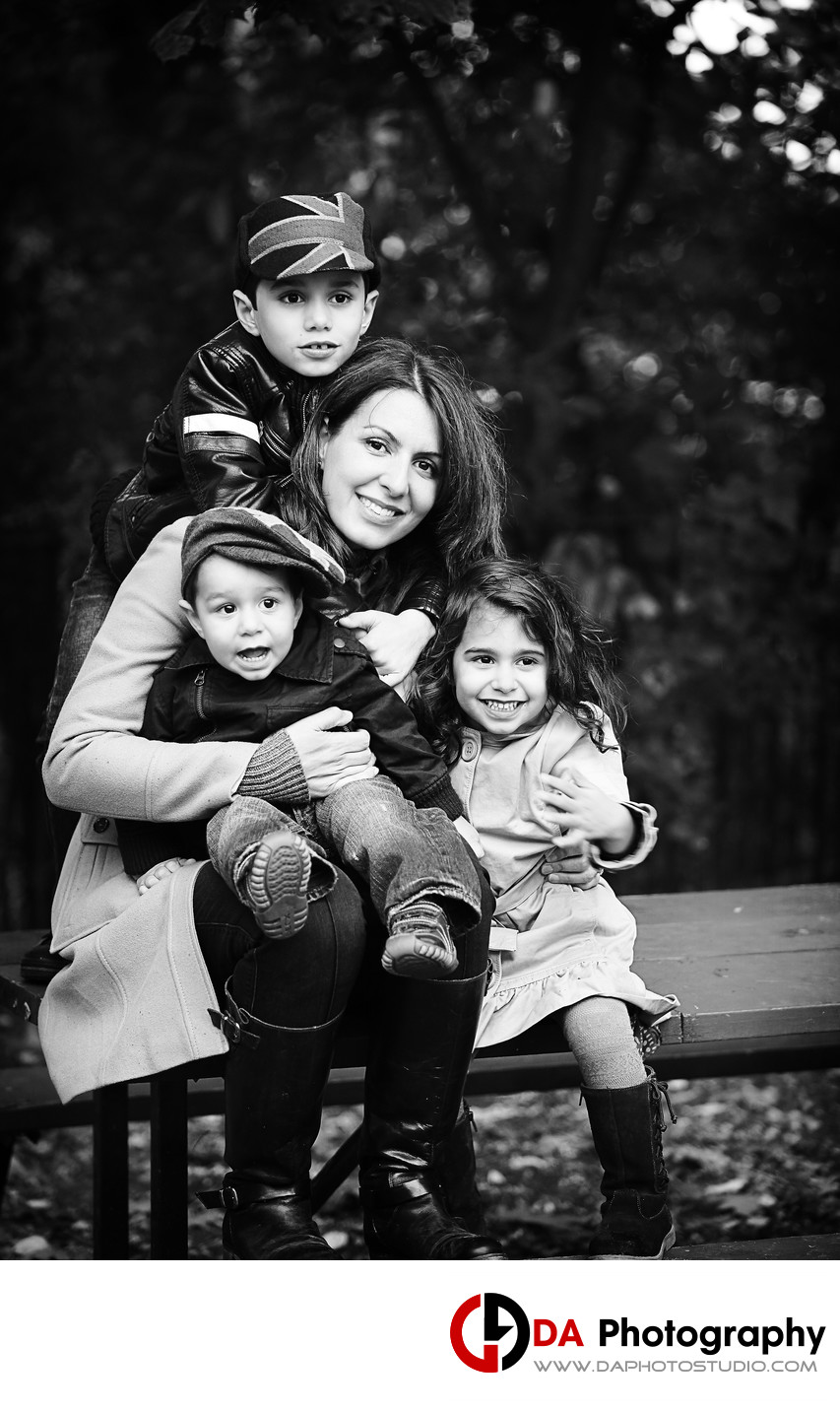 Fall Family Portrait at LaSalle Park and Marina