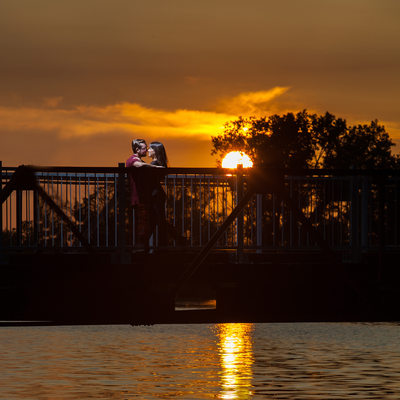 Sunset Engagement at Port Dover Harbour Marina
