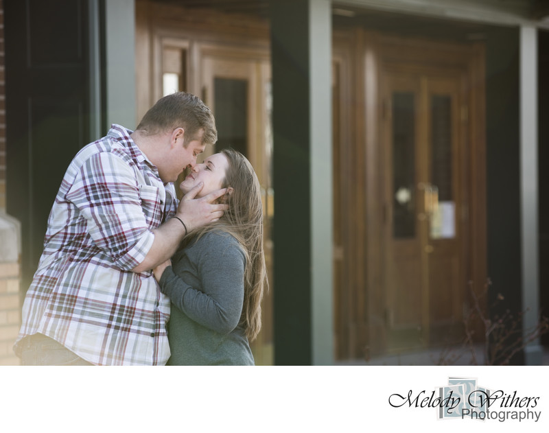 Station Downtown Fort Wayne Engagement Photographer