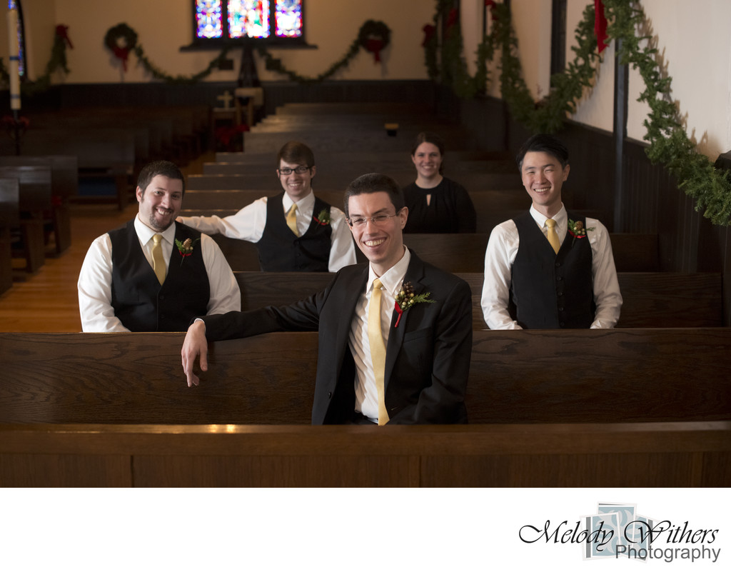 Wedding-Photographer-Church-Pews-Muncie-Indiana