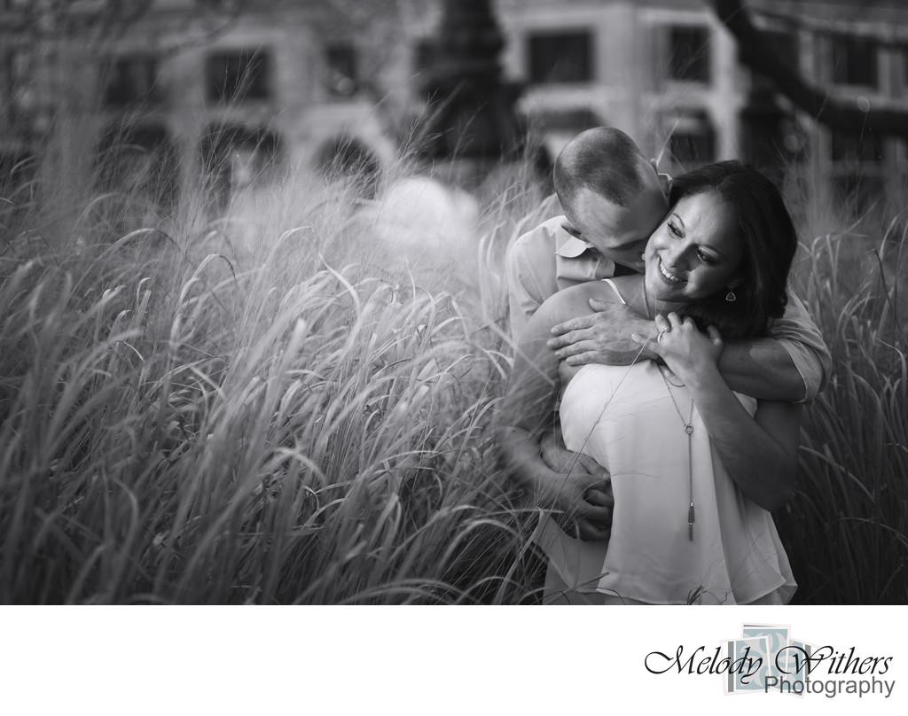 Evening Downtown Indianapolis Engagement