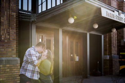 Baker-Street-Station-Fort-Wayne-Engagement-Photographer