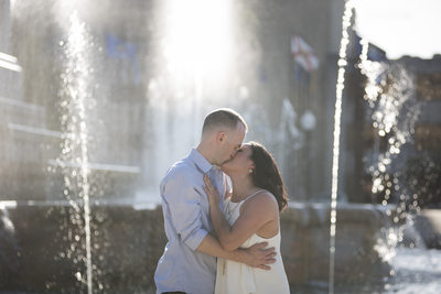 Depew Memorial Fountain Downtown Indianapolis Engagement