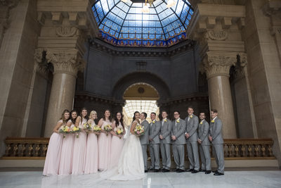 Indiana State House Wedding Indianapolis