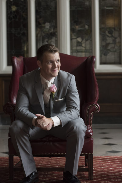 Groom at the Columbia Club
